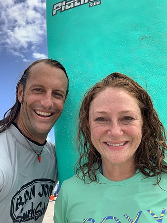 Post surf lesson selfie with Warren!