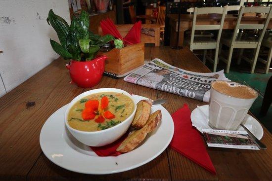 Fresh organic foods. Amazing soup