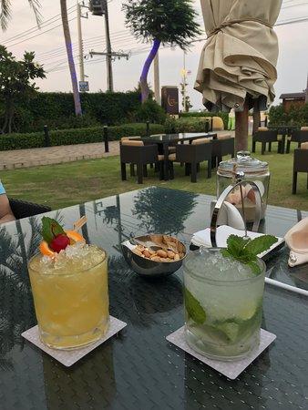Cocktail during the sunset in Pranburi