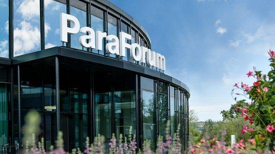Das Besucherzentrum der Schweizer Paraplegiker-Stiftung ParaForum in Nottwil.