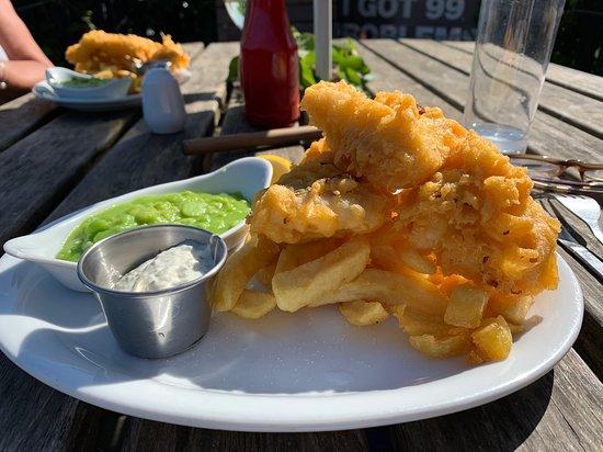 Golant, UK: Hake and Chips