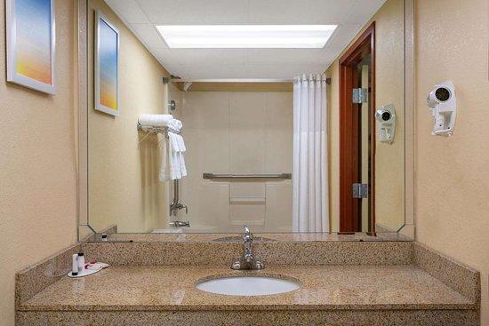 Days Inn by Wyndham Hillsborough: Guest room bath