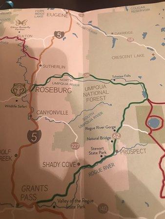 Umpqua, OR: Location Map