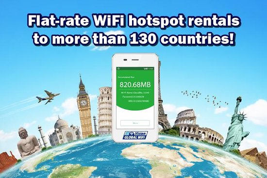 WiFi rental around world - Vision Global WiFi