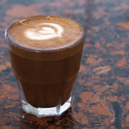The Cortado: 2oz espresso and 2oz steamed milk.