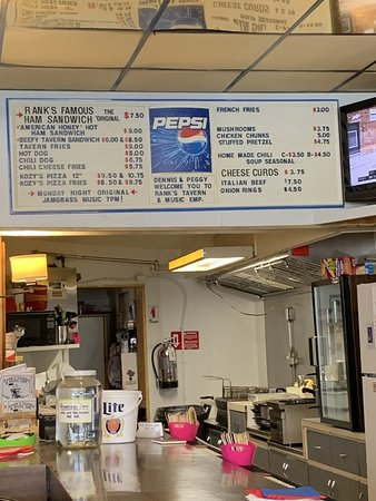 Adams, WI: Rank's menu