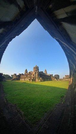 Angkor way temple.