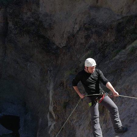 Melocoton, Chile: Canyoning en el melocontón, el cajon del maipo. Ececelente aventura.