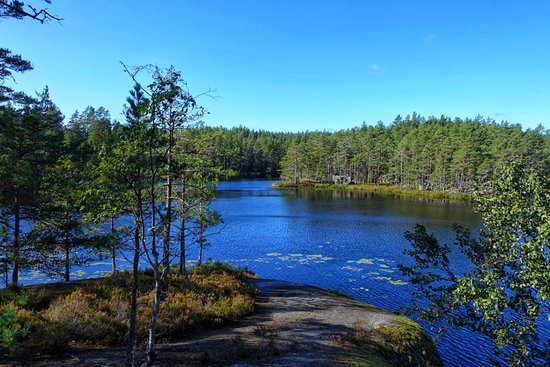 Hiking in Tiveden NP is great! Listen to the silence and breath...