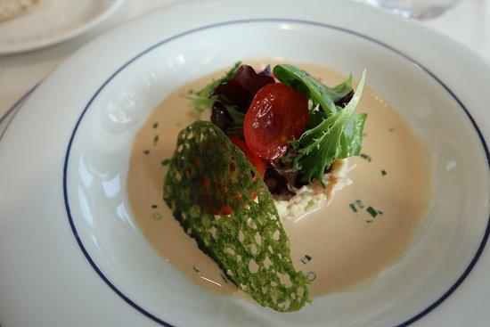 Varades, ฝรั่งเศส: Fraîcheur de crabe en rémoulade aux herbes