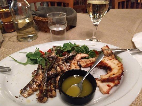 my dinner of octopus and mackerel