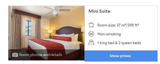 Comfortable enough for two, but not the room type we were expecting