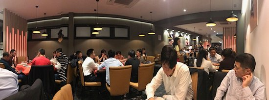 Very busy restaurant with lots of Chinese diners