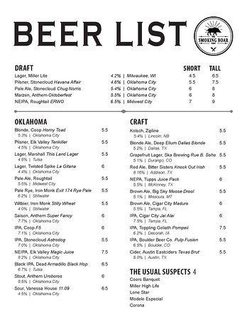 Craft, local & 'The Usual Suspects' beer options!