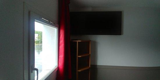 TV above closet