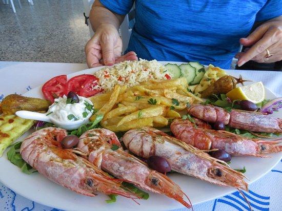 Shrimp dish at Stelios
