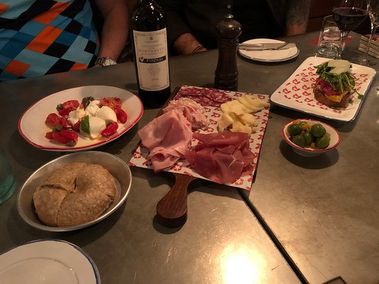 Wonderful meal—with ingredients sourced directly from Italy