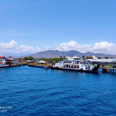 Gilimanuk, Indonesia: Ferry ship.