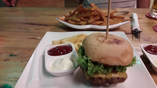 Burger Bar: one portion of home made chips and a burger