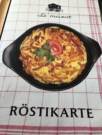 Le Mazot: menu