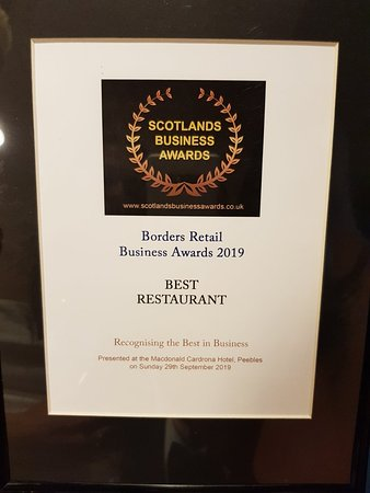 BEST RESTAURANT IN SCOTLAND BUSINESS AWARD  THANK YOU TO ALL CUSTOMERS AND TO PEOPLE WHO BELIVE IN US