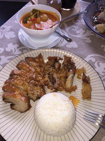 Rotes Thai Curry mit Ente nur zu empfehlen