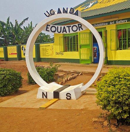 Kayabwe, Oeganda: Crossing the equator in Uganda