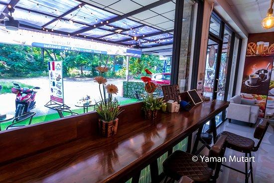 Restaurant interior, very clean and modern!