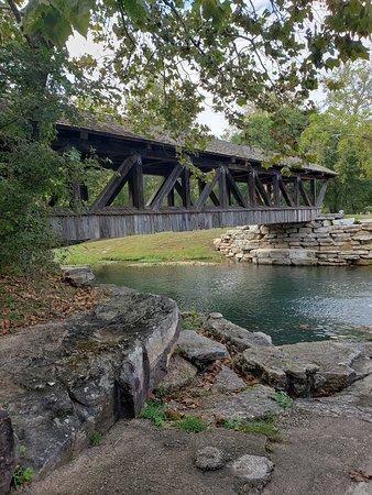 Amish built bridge