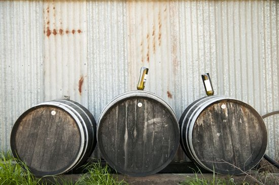 Ladys Pass, Australia: Wine barrels repurposed for vinegar