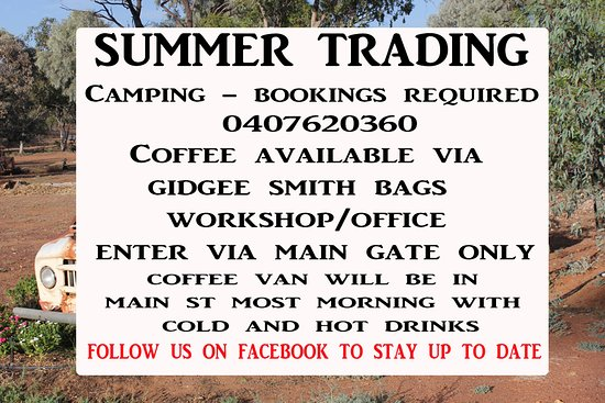 Morven, Австралия: Summers Trading hours are something new to the Gidgee's Bush Camp follow us on facebook to stay up to date