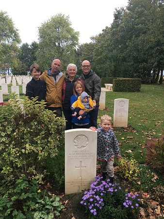 Full-Day Canadian Battlefields and Sites of Normandy Tour: To the uncle we never knew but will never forget. Three generations, Uncle, Great- Uncle and Great,Great Grand Uncle.