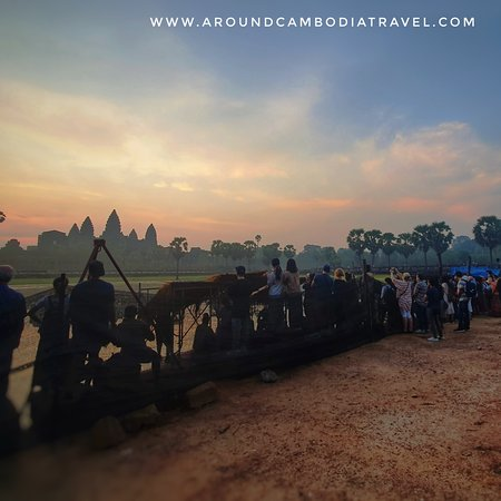Everyone wake up for the sunrise at Angkor.
