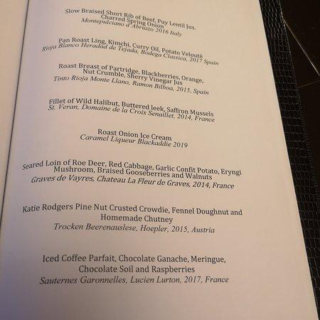 The Gourmet tasting menu - brilliant