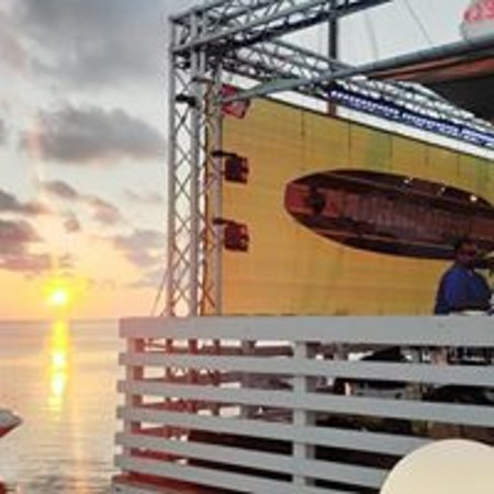 Stage on the water
