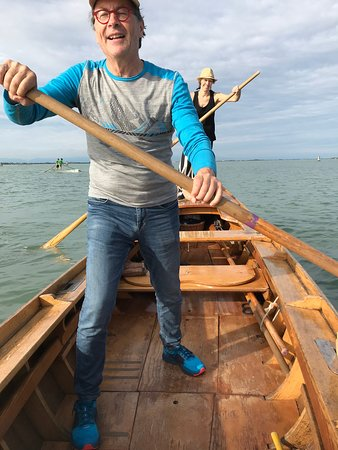 Venetian Rowing Lesson: Lots of fun, but I don't think I'll quit my day job just yet.