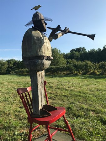 Amherst, MA : One of the whimsical art installations on Sunset Farm.