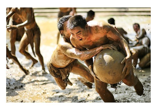 Bac Giang Province, Vietnam: This is an ancient wrestling ritual in north Vietnam and it one of the world's most extraordinary traditions! You might only have 20 chances to experience this unique culture in your life time, for the ball wrestling festival is only held from the 12th to the 14th of the fourth lunar month every four years. It commemorates the victory of four brothers - Truong Follow IVINA Hub on Facebook for you deeper exploration of Vietnam: the people, culture & nature. http://bit.ly/IvinaHub_Trip