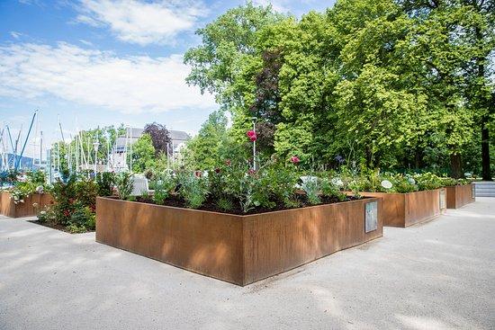 Schoerfling am Attersee, Østerrike: Blick auf den Gustav-KLimt-Garten in unmittelbarer Nähe des Klimt-Zentrums © APA-Fotoservice/Neumayr/Klimt-Foundation, Wien