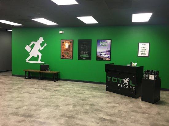 Total Escape: Total Escape lobby - prep for adventure!