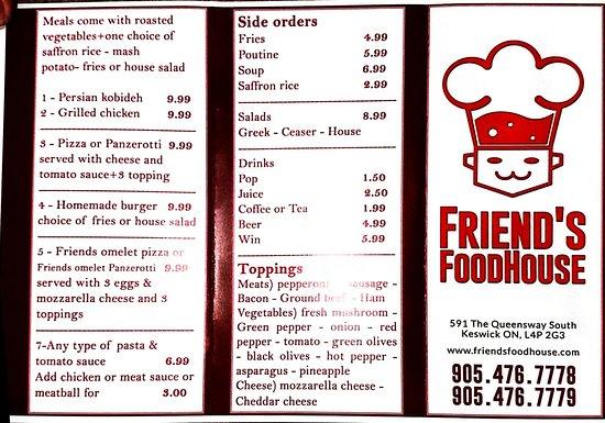 Keswick, Kanada: New weekend menu