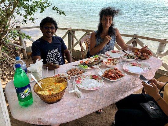 repas chez un ami d'Eranda