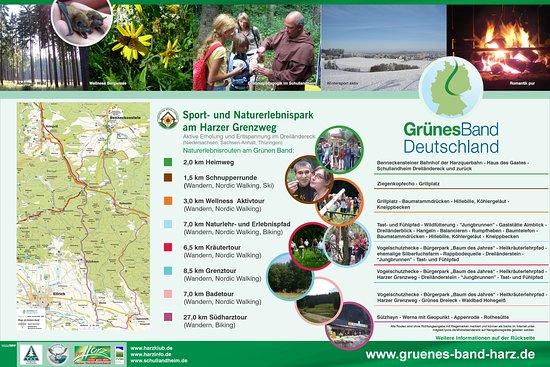 Benneckenstein, Alemania: Acht Erlebnisrouten unseres Sport- und Naturerlebnisparks begleiten Sie bei Ihren Entdeckungen durch drei Bundesländer im Grünen Band Deutschland.