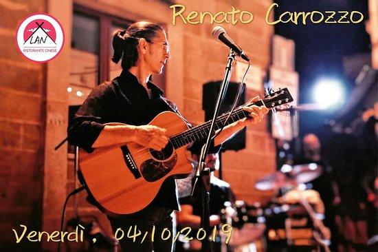 """Venerdì 4 ottobre 21.00-23.00, musica dal vivo del cantante """"Renato Carrozzo""""al """"Lan ristorante cinese"""". vi aspettiamo ~ 😆 prenotazione e info: 0832 1560829"""