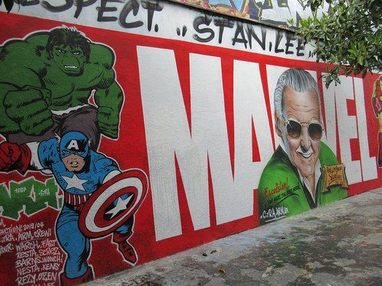 """Fresque """"Marvel"""""""