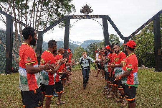 Kokoda, Papúa Nueva Guinea: At the finish - Owers Corner