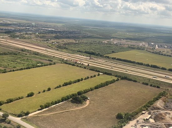 Aerial shot of Del Valle, Shortly after take-off from Austin