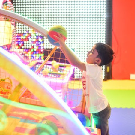 Ranga Reddy District, India: The Kidz land, One of the biggest and premium Play Zone and Party place in hyderabad, (30000sft) hitech city, with all precious and latest games, exclusive and premium birthday party halls, open to sky halls. We have wide range of games like dashing car, water boats, ball pool. Electronic gun shooting, obstacle course, Illusion house, sand pit and many more. Exclusive And premium toddler play zone. Multiple birthday party areas. Innovative and premium play area. Best kids birthday party place an