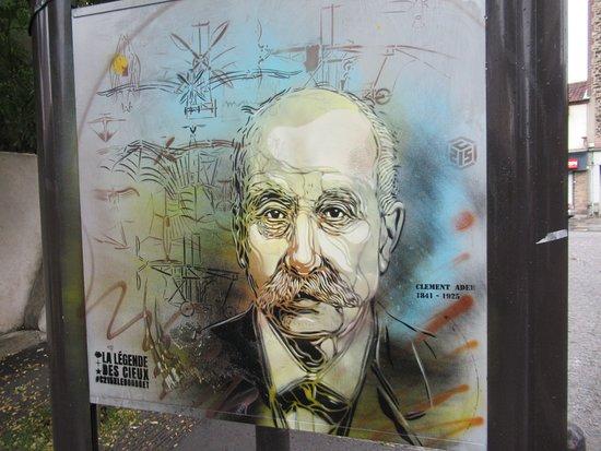 "Fresque ""Clément Ader"""