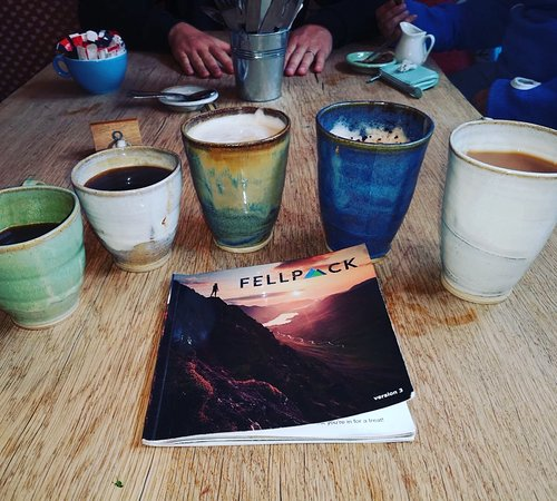 The collection of homemade mugs